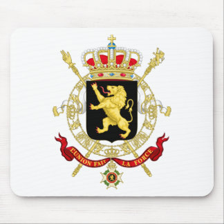 Belgisches Emblem - Wappen von Belgien Mousepads