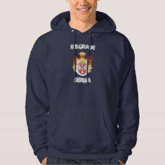 Belgrad, Serbien mit Wappen Hoodie