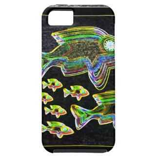 Belichtete Reflexion: Fische im Flut-Licht iPhone 5 Hülle