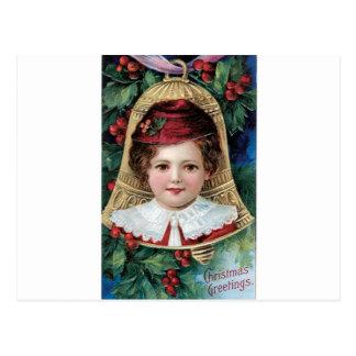 Bell auf Weihnachtsbaum Postkarte