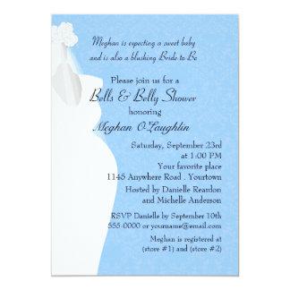 Bell und Bauch-Baby und Brautparty Karte
