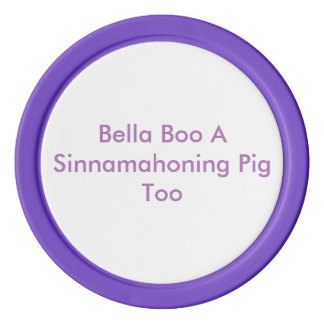 Bella Boo-lila Poker-Chips Poker Chips