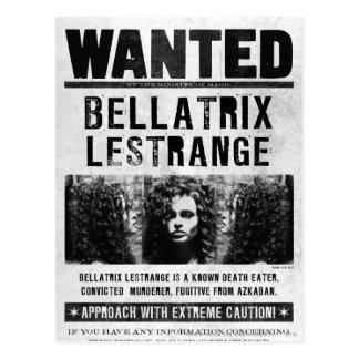 Bellatrix Lestrange wollte Plakat Postkarte