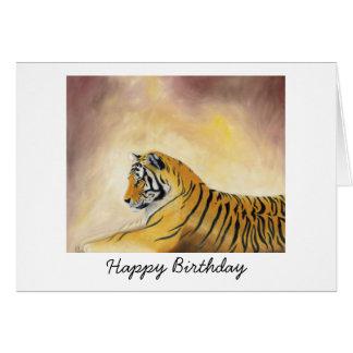 Bengalische Tiger-Geburtstags-Karte Karte