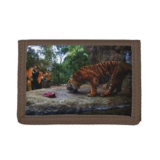 Bengalischer Tiger, der die Kinder neckt,