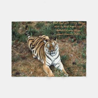 Bengalischer Tiger Fleecedecke