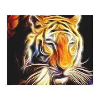 Bengalischer Tiger Gespannte Galeriedrucke