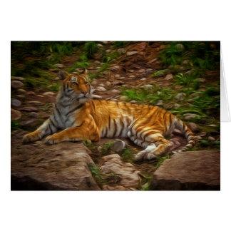 Bengalischer Tiger Grußkarte