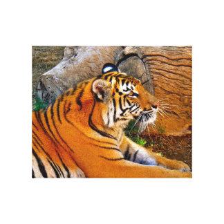 Bengalischer Tiger-Leinwand-Druck Leinwand Druck