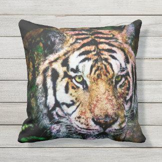 Bengalischer Tiger-Mischmedien Kissen