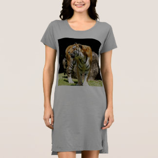 Bengalisches Tiger-Damen-T - Shirtkleid/Nightie Kleid
