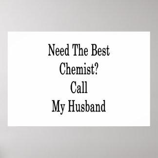Benötigen Sie den besten Chemiker-Anruf mein Poster