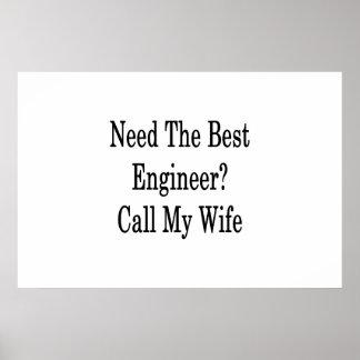 Benötigen Sie den besten Ingenieur-Anruf meine Poster