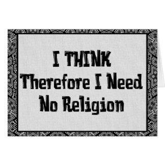 Benötigen Sie nicht Religion Mitteilungskarte