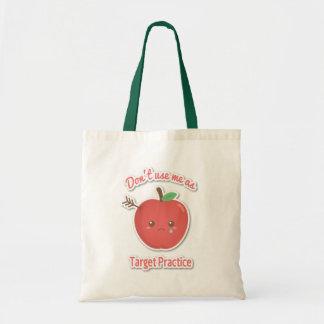 Benutzen Sie Äpfel nicht als Zielpraxis Tragetasche
