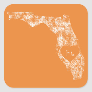 Benutzte i-Liebe-Florida-Staats-Aufkleber Quadratischer Aufkleber