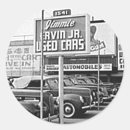 Benutztes Auto-Los Vintager Hollywood Kalifornien Runde Aufkleber