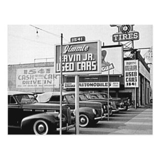 Benutztes Auto-Los Vintager Hollywood Kalifornien Postkarte