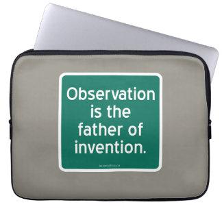 Beobachtung ist der Vater der Erfindung Laptopschutzhülle