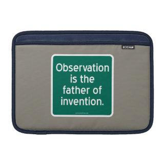 Beobachtung ist der Vater der Erfindung Sleeve Fürs MacBook Air