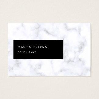 Berater Profi moderner eleganter weißer Marmor Visitenkarte