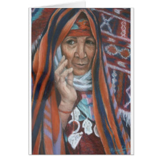 Berber-Tapisserie-Frau Karte