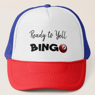 Bereiten Sie vor, um BINGO glücklichen Hut zu Truckerkappe