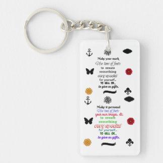 Bereiten Sie vor, um Keychain zu personifizieren Schlüsselanhänger
