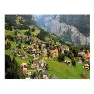 Bergdorf Jungfrau Region Postkarte
