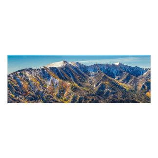 Berge, die Jahreszeiten ändern Photographien