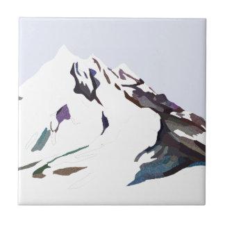 Berge im kalten Entwurf Keramikfliese