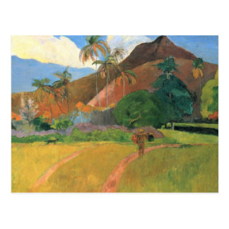 Berge in Tahiti - Paul Gauguin Postkarte