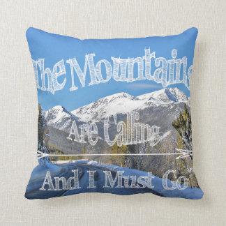 Berge nennen,/Elchkunstkissen Kissen