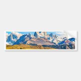 Berge Snowy Anden, EL Chalten, Argentinien Autoaufkleber