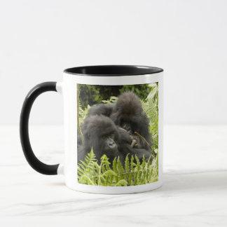 Berggorilla, Familie im Tagesnest Tasse