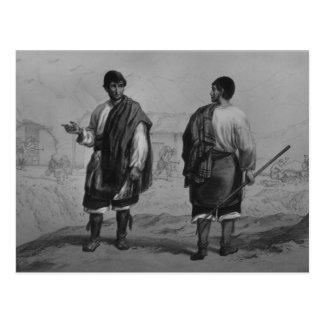 Bergmänner des Chilen, graviert von F. Lehnert Postkarte