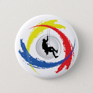 Bergsteigen-Tricolor Emblem Runder Button 5,1 Cm