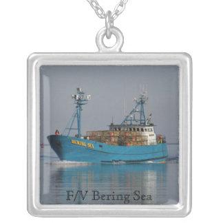Bering-Meer, Krabben-Boot im niederländischen Halskette Mit Quadratischem Anhänger