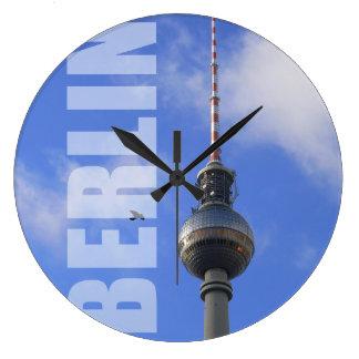 BERLIN TV Tower (Berliner Fernsehturm) Große Wanduhr