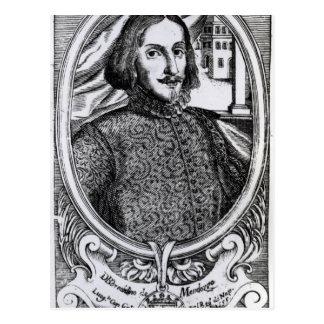 Bernardino de Mendoza, 1595 Postkarte