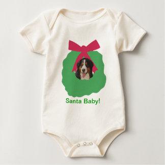 Bernese Gebirgshundefeiertags-Kranz Baby Strampler