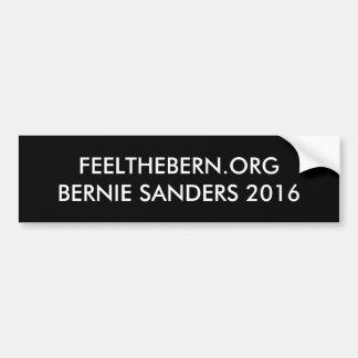 Bernie-Sandpapierschleifmaschinen 2016 Autoaufkleber