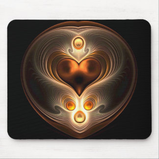 Bernsteinfarbige Ewigkeits-Herz-Mausunterlage Mousepads