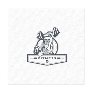 Berserker anhebende Barbell Kettlebell Fitness Leinwanddruck