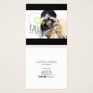 Berufliche Fotografie Quadratische Visitenkarte