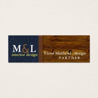 Berufliche Innenarchitektur-Visitenkarte Mini Visitenkarte