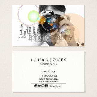 Berufliche Kameraobjektivviewfinder-Fotografie Visitenkarten