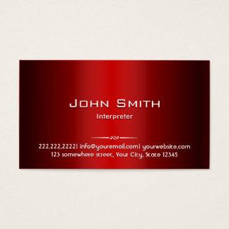 Berufliche rote Metallinterpret-Geschäfts-Karte Visitenkarten