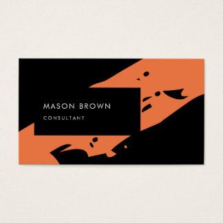 Beruflicher Berater-moderne schwarze Orange Visitenkarten