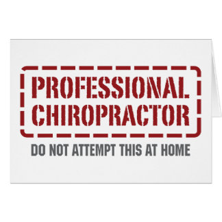 Beruflicher Chiropraktor Karte